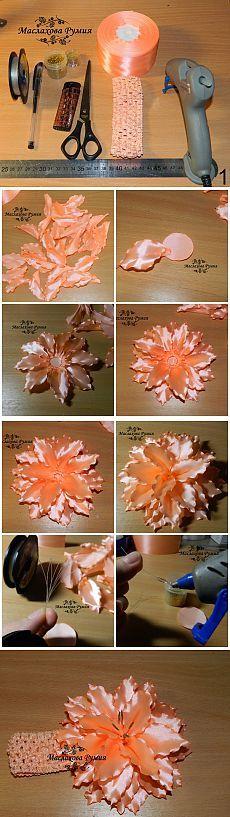 How to DIY Beautiful Satin Ribbon Rumia Lily Flower | www.FabArtDIY.com