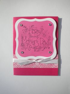 Pink Mother's Day card by lilaccottagecards