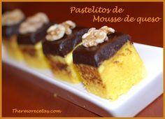 Pastelitos de mousse queso Pastelitos de mousse de Queso con limón