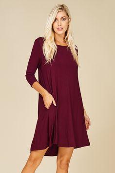 ff387e1de573 More ideas from Annabelle USA. 3 4 Sleeve A-Line Dress Style  D5211 A knit  3 4
