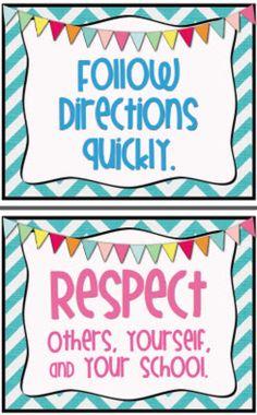 Mrs. Heeren's Happenings: Classroom Rules in Motion!