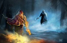 Fire light vs darkness