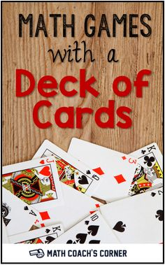 These math games provide hours of engaging practice and require only a deck of ordinary playing cards. Great for family math night! Math Card Games, Fun Math Games, Math Activities, Dice Games, Third Grade Math Games, Math Classroom, Kindergarten Math, Teaching Math, Teaching Ideas