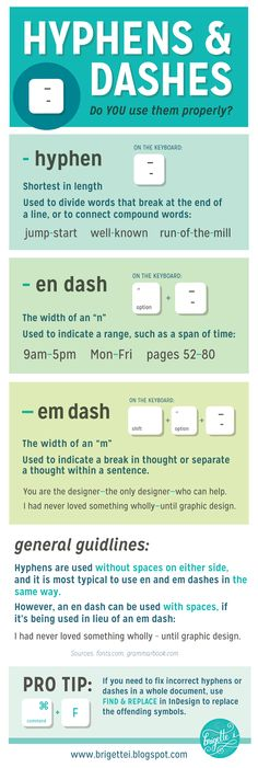 Hyphens and Dashes - Do YOU Use Them Properly | graphic design tips, tricks, productivity resources | Adobe Illustrator