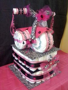 Pinterest pink zebra for baby shower | ... Pink Tricycle Diaper Cake 9990282 Baby Girl Cakes By Cake on Pinterest