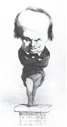 Victor Hugo, caricature by Daumier
