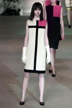 Saint Laurent Spring Mondrian Dress