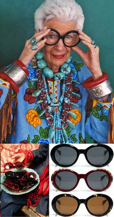 Iris Apfel -the oldest living teenager! Fashion is Fun!