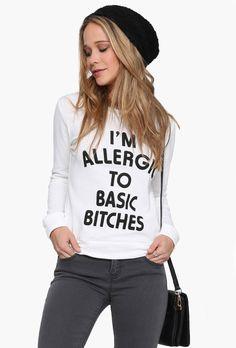 #SALE White Long Sleeve Letters Print Sweatshirt $15 Shop the #SALE at #Sheinside