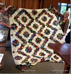 Split Nine-Patch Variation -- another Bonnie Hunter free pattern found on her website