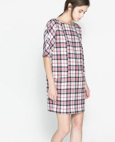 CHECKED DRESS from Zara  This would make a cute maternity dress