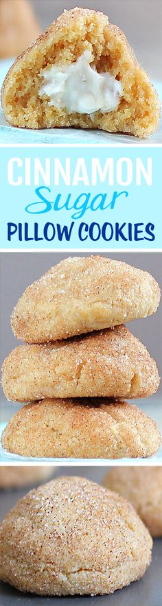 One of my favorite holiday cookie recipes - it's like eating a cinnamon roll, a sugar cookie, and a cream cheese danish... all in the same recipe http://chocolatecoveredkatie.com/2012/12/02/cream-cheese-stuffed-cinnamon-sugar-pillow-cookies/ @choccoveredkt