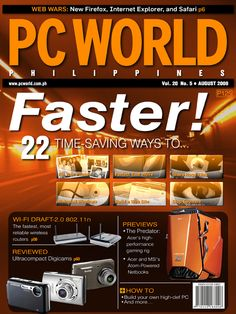 PCWorld Philippines August 2008 cover