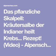 Das pflanzliche Skalpell: Kräutersalbe der Indianer heilt Krebs... Rezept! (Video) - Alpenschau.com