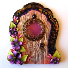 Fancy Fairy Door with a Window Pixie Portal Fairy by Claybykim All You Need Is, Polymer Clay Fish, Fairy Doors, Fairy Dust, Tooth Fairy, Fairy Houses, Garden Crafts, Clay Ideas, Decoration