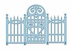 SPELLBINDERS Shapeabilities DIE D-LITES Garden Gate S2-080 Dies Cut Emboss