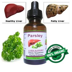Liver & Kidneys Cleanse Detox Support Parsley Organic Drops Concentrate Extract Healthy Natural Herb Dietary Supplement