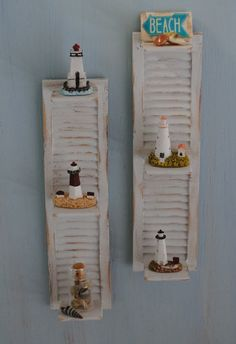 Miniature Pair Of Shabby Chic Wall Shelves by LittleThingsByAnna, $30.00
