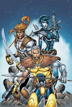 Shatterstar, Domino and Cable by Rob Liefeld
