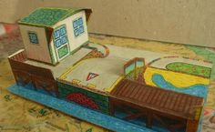 PAPERMAU: Small Marina On The Waterfront Paper Model - by Somodi Zoltan