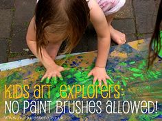 Using different objects for painting...no brushes.  kids art by Cathy @ Nurturestore.co.uk, via Flickr