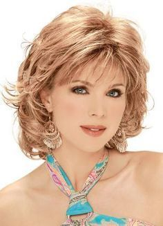 Image result for medium length hairstyles with bangs for women over 50