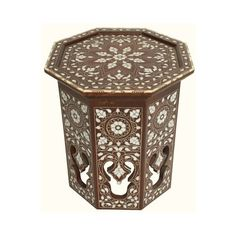 Syrian Side Table Mother of Pearl Inlaid