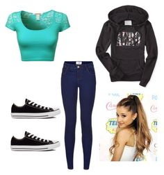 """""""OOTD"""" by poptartqueen24 ❤ liked on Polyvore featuring Converse and Aéropostale"""