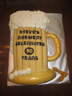 Beer mug cake. THIS IS FOR COURT AND KELS!