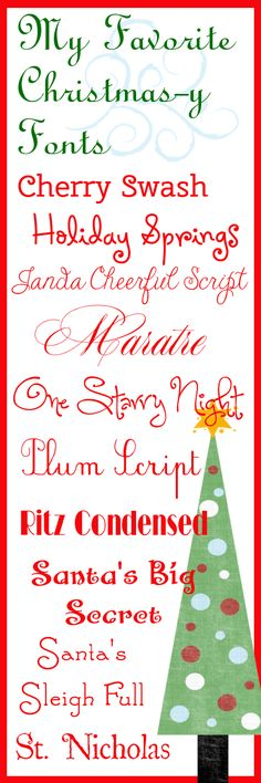 Life Is A Trip Worth Taking: My Favorite Christmas-y Fonts