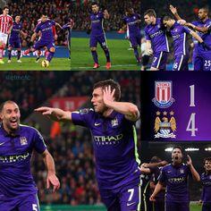 Stoke 1 City 4 match action shots #mcfc #stokevcity #mancity
