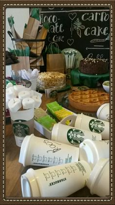 Starbucks themed birthday party ♡                                                                                                                                                                                 More
