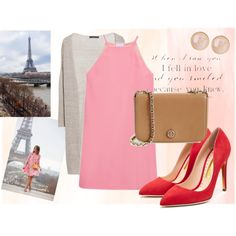 Paris by dariaplava on Polyvore featuring polyvore, мода, style, Raey, Violeta by Mango, Rupert Sanderson, Tory Burch and Saachi