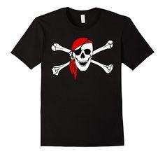 Amazon.com: Jolly Roger Skull & Crossbones T-shirt Design: Clothing