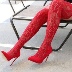 Would you wear? http://www.myshoebazar.com/product/thigh-high-stiletto-heels/
