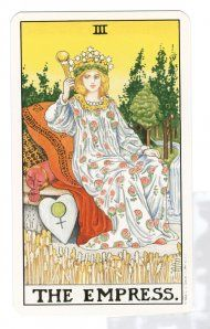 The empress is abundant in her power to create and manifest