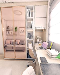 Bedroom Ideas For Small Rooms For Teens Ikea Interior Design Ideas For 2019 Small Room Bedroom, Bedroom Interior, Home Office Design, Bedroom Design, Home Room Design, Home Office Closet, Home Decor, Room Decor, Apartment Decor