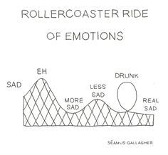 rollercoaster ride of emotions of missing you