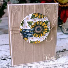 Craft Projects, Projects To Try, Sunflower Cards, Fun Challenges, Cardmaking, Stampin Up, Birthday Cards, How To Draw Hands, Paper Crafts