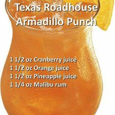 Texas Roadhouse Armadillo Punch #rumdrinks