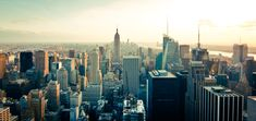 skyline, buildings, new york, skyscrapers