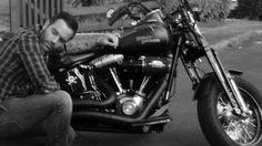 Ramin Karimloo and his Harley
