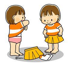 Девушки переодеться одежды иллюстрации (программное обеспечение)