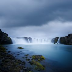 Sacred Waters by Jérôme Berbigier, via 500px. Godafoss, Northern Iceland