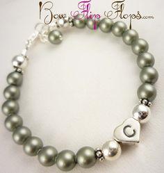Custom design your own flower girl bracelet in por BridalFlipFlops