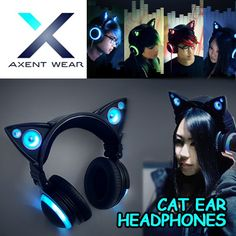 [S$179.00][SOLD OUT IN US][AXENT WEAR] CAT EAR HEADPHONES / WITH LED ACCENT LIGHTS
