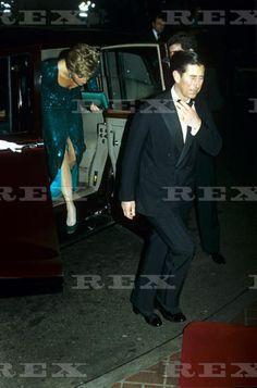 British Royalty at the Pink Diamond Charity Ball, Royal Lancaster Hotel, London, Britain - 1990 Princess Diana 1990