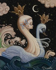 Realistic and Surreal Art and Illustration Surrealism Painting, Pop Surrealism, Art Pop, Swans, Arte Lowbrow, Macabre Art, Weird Art, Surreal Art, Bob