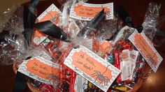 Halloween Client Gifts 2015--notepad, pencils, bubble and candy!