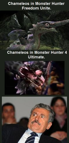 A Chameleon Dragon Doesn't Just Become Nightmarish Overnight - Video Game Memes Monster Hunter Memes, Monster Hunter 3rd, Playstation 2, Monster Hunter 4 Ultimate, Hunter Tattoo, Funny Jokes, Hilarious, Wtf Moments, Funny Text Posts